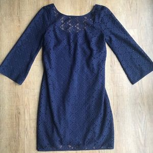 Lilly Pulitzer Topanga Navy Lace Tunic Dress
